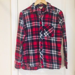Woolrich Flannel Red Plaid Long Sleeve Shirt